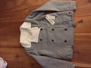 "New! Roxy ""Street Dancer"" button sweatshirt jacket.  large"