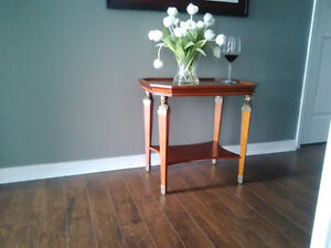 Brass Trimmed End Table