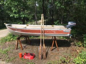 12' GameFisher Aluminum Boat with 5hp Yamaha Motor