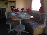CARAVAN TO RENT ON THE NORTH EAST COAST OF ENGLAND, NEWBIGGIN BY THE SEA , NORTHUMBERLAND