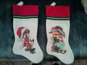 Christmas stockings cat and dog.