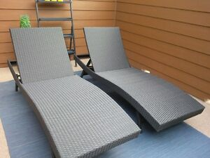 Pair of loungers in new condition