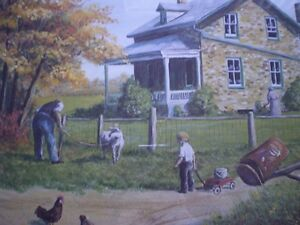 """Roger Witmer """" Little Red Wagon """" Limited Edition Print Kitchener / Waterloo Kitchener Area image 4"""