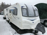 Bailey Pegasus GT65 Ancona Six Berth Caravan End Wash Room & Fixed Bunk Beds