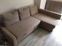 IKEA Corner sofa-bed with storage