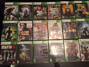 31 Xbox 360 games Will sell individually/Bundles Make offers