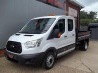 £ 76 A WEEK - 2015 FORD TRANSIT 2.2 DOUBLE CREW CAB 123HP 7 SEAT TIPPER TRUCK