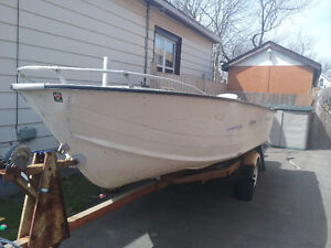 16ft Aluminum Starcraft with  85hp Evinrude and trailer