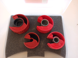 Rothenberger PEX Plastic Pipe cutter set with case. 10mm, 15mm, 22mm,