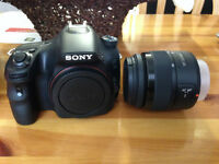 Sony DSLR a58 with 18-55mm lens. Used only 3 times.
