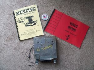 1965 Mustang Radio, Manuals, and Button