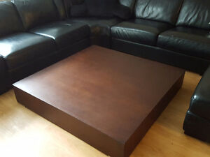 LOW ESPRESSO CONTEMPORARY COFFEE TABLE LARGE