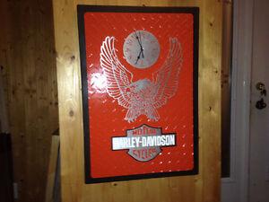 Horloge HARLEY DAVIDSON fait à la main  en aluminium, Saguenay Saguenay-Lac-Saint-Jean image 1