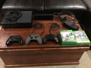 Great condition Xbox One with kinect, controllers, and 30 games