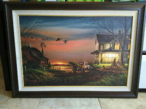 """Collectible Terry Redlin Print """"Special Memories"""" in Frame"""