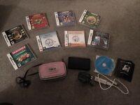 Nintendo DS Lite bundle incl. case, games, charger, styluses