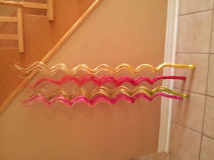 Set of 4 multicoloured spiral wooden decorative accents NEW London Ontario image 2