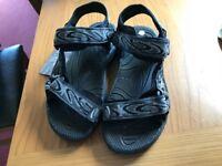 Mountainlife Rough Black ladies walking sandals, size 39/6 BRAND NEW.