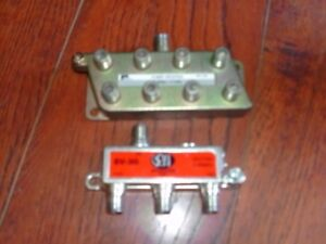 HIGH QUALITY TELEVISION CABLE/ANTENNA SPLITTERS