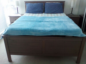 Ikea Hemnes bed frame Must go! Box Spring available too