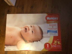 Couches huggies boîte 216 taille 1