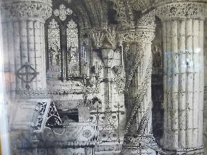 Original Etching of Roslyn Chapel, Edinburgh by Albany Howarth Stratford Kitchener Area image 8