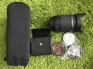 Tamron for canon lens with filter and case (18mm to 200mm)