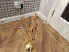 Swarovski crystal table lamp brass/gold finish.