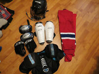 4-6ys boy hockey equipments