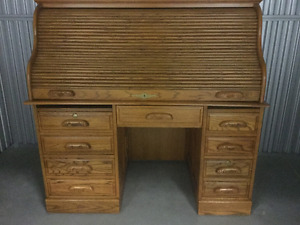 Beautiful solid oak roll top desk