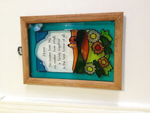 10 by 7 Stain glass picture