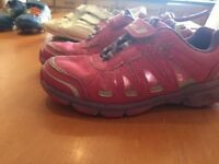 Clarks girls trainers with lights 10.5 F