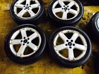 "17"" GENUINE BORBET FORD FOCUS ALLOY WHEELS GALAXY MONDEO SET OF 4 g"