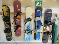 4 Different Snowboards with Bindings - $40 Each, take your pick!