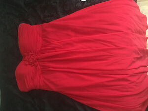 Red full length Bridesmaid/formal gown