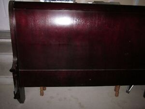 REDUCED TO GO!! Solid Mahogany (REAL) Wood Headboard--MOVING!