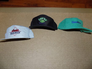 3 BASEBALL CAPS, UNUSED, REEBOX, COORS SLO-PITCH, EARTH DAY