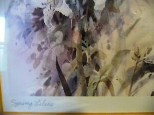 """Wildflower Lithograph, Signed by Brent Heighton """"Spring Lilies"""" Stratford Kitchener Area image 6"""