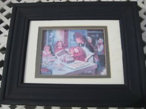 Christmas Picture - 3 d  -  hand made and framed