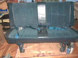 rear seat/double bed from full size chev conversion van