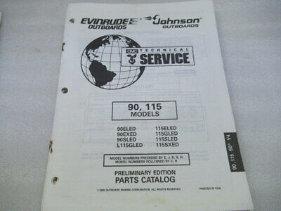 PM9 Evinrude 90 115 Models Preliminary Edition Parts Catalog Manual P/N 438172
