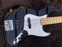 FENDER JAZZ BASS USA GEDDY LEE SIGNATURE WITH FENDER HARDCASE NEAR MINT