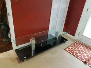 Glass TV stereo stand