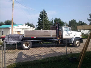 5Ton truck with dump deck and 6 Ton knuckle boom