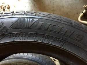 2 pneus 205/55R16 91H d'hiver a vendre