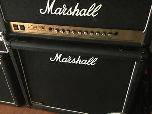 """Marshall JCM900 HiGain/DualReverb 100W/ Marshall 1936 2X12""""cab"""
