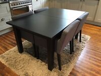 Black IKEA Stornas extending dining table