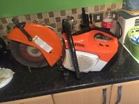 Stihl saw ts410 Only been used about 5 times, great condition comes with 1 diamond