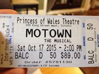 Three tickets to Motown the Musical