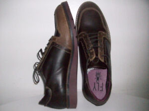 NEW LEATHER SHOES ORiGiNAL LONDON FLY Size 44Eu. 10.5-11 Can